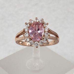 18k Rose Gold Pink Ring